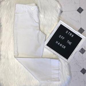 Ann Taylor LOFT white capris w/ front pockets sz 2